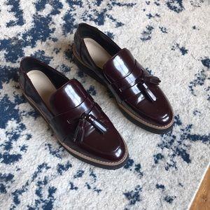 Zara Maroon Loafers